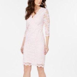 Thalia Sodi Lace Sheath Dress Pink
